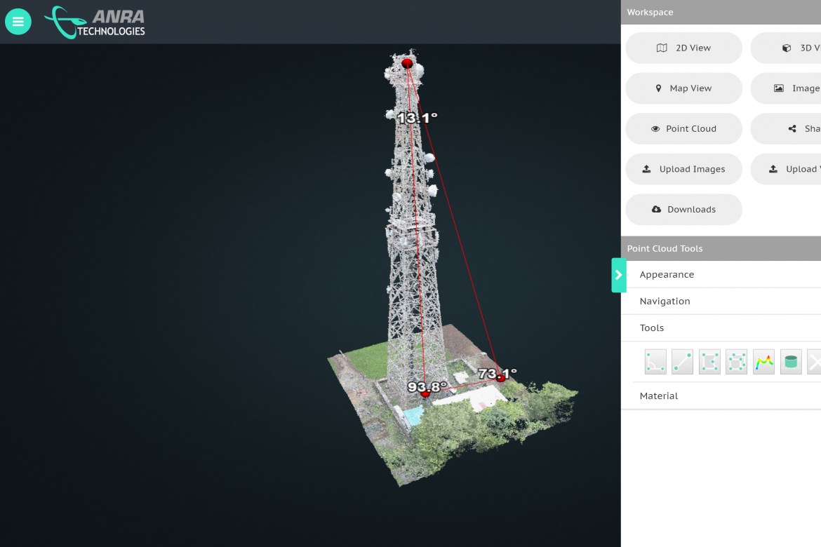 DroneOSS - Point Cloud with specialized tools
