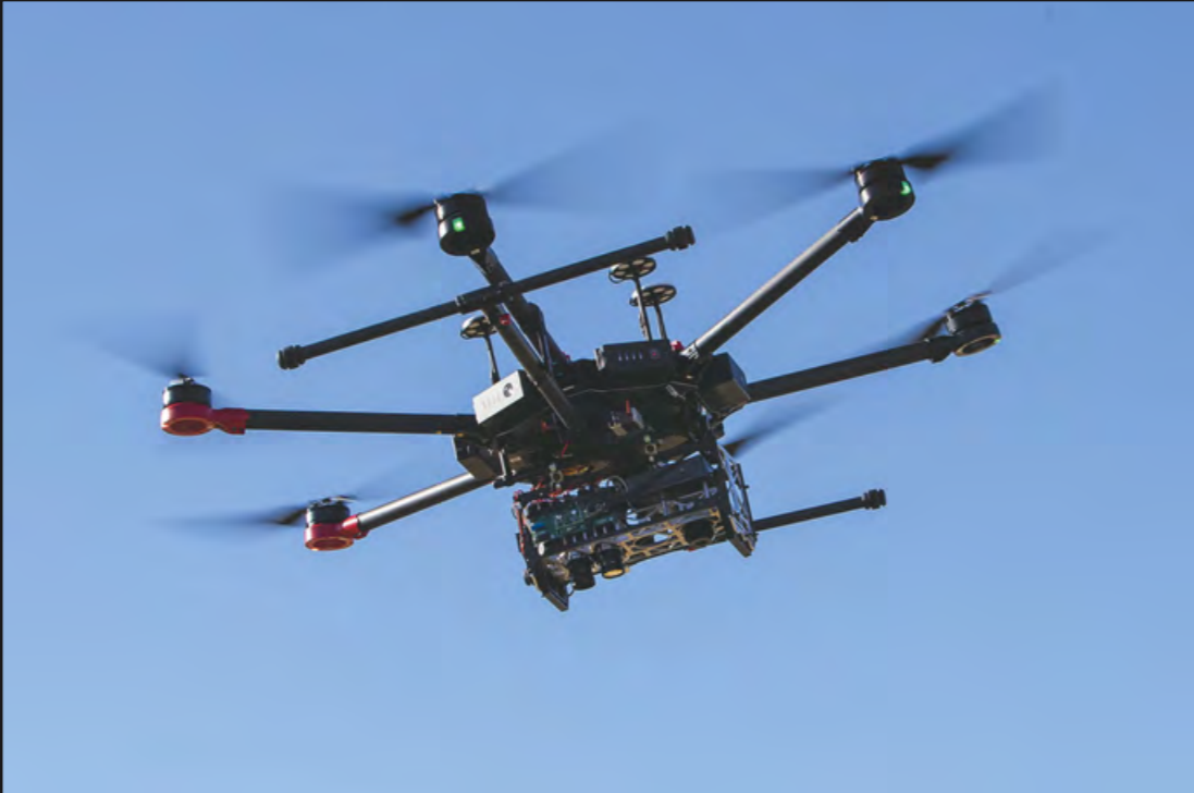 M600 Drone Executing a mapping mission within an approved operation volume